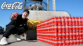 1000-cans-of-coke-vs-steam-roller-coca-cola-vs-road-roller-experiment
