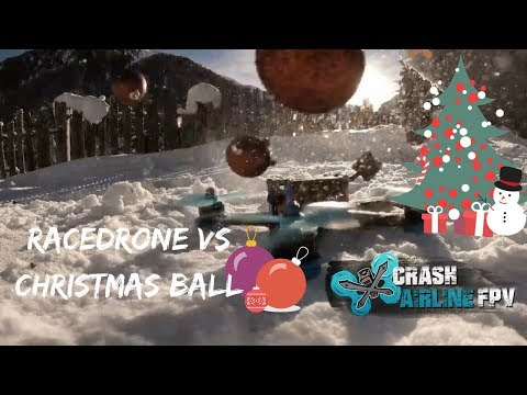 Race Drone vs Christmas Ball   Will it Blend   Gopro 6 240fps Slow Motion