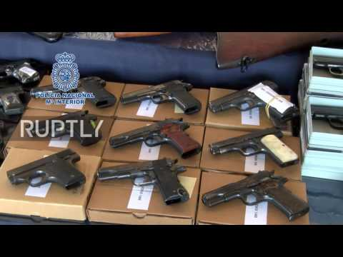 Spain: Police hauls more than 10,000 firearms in massive arsenal seize