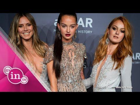 Heidi Klum zeigt GNTM-Mädchen auf der amfAR-Gala