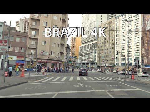 Sao Paulo 4K - Driving Downtown - Brazil