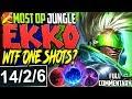 MOST OP JUNGLE EKKO BUILD | WTF ONE SHOTS? 1400+ BURST DAMAGE | Ekko Jungle Build S8 PBE Gameplay