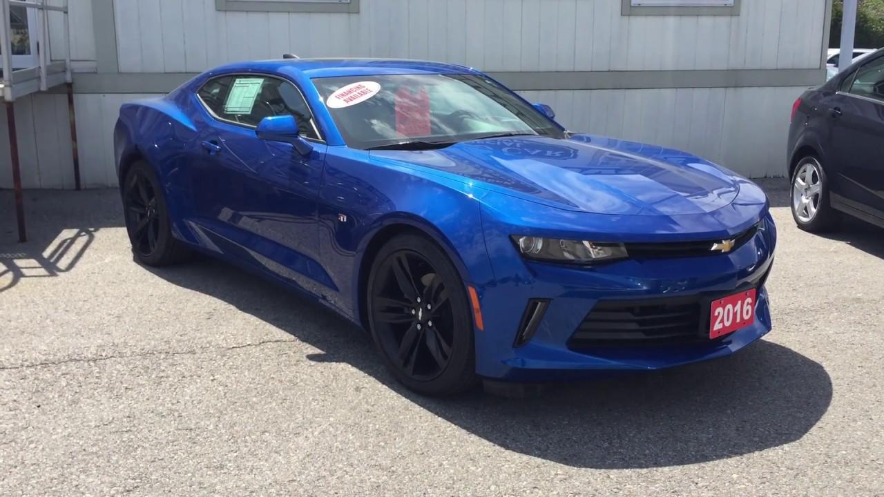2016 Chevrolet Camaro Lt Hyper Blue Metallic Roy Nichols Motors Courtice On