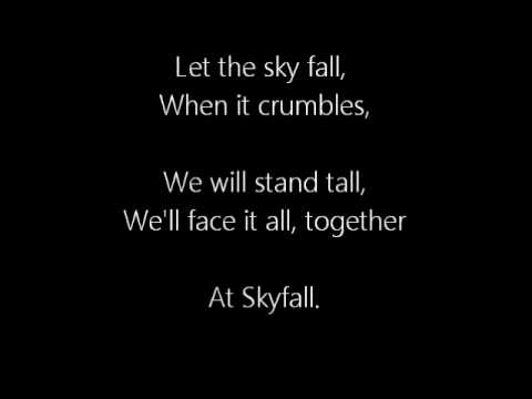 Adele - Skyfall (007 Theme Song) Lyrics On Screen