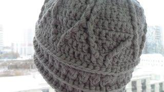Женская шапка крючком,рельефные узоры 1 часть( relief cap crochet) (Шапка #30)