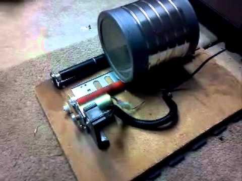 Copier fuser coffee can rock tumbler youtube for Diy rock tumbler motor