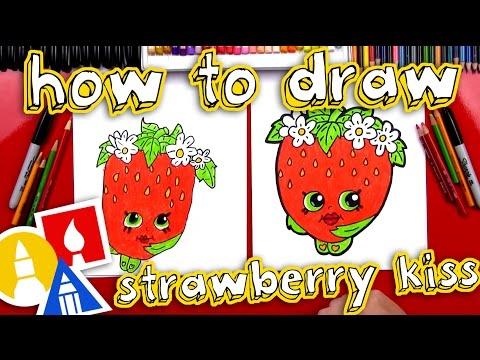 How To Draw Strawberry Kiss Shopkins Youtube