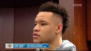 Kevin Knox: This is a Big-Time Win! | New York Knicks Post Game