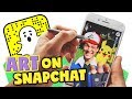 6 MUST-KNOWS For Doing Artwork On Snapchat! | EASY TUTORIAL | HelloRasmus