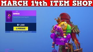 Fortnite Item Shop (March 14th) | *NEW* BACKBLING FOR 1,000 VBUCKS! TOO EXPENSIVE!