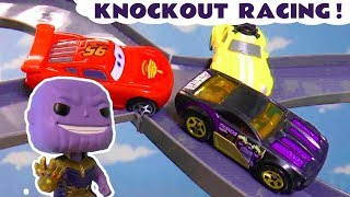 Cars Lightning Mcqueen Knockout Race With Hot Wheels Thanos And Thomas & Friends Ace Tt4u
