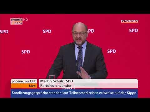 Statement von Martin Schulz zu den Jamaika-Sondierungen am 17.11.17