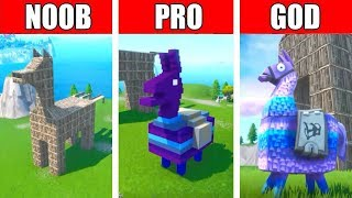 Fortnite NOOB vs PRO vs GOD: LLAMA BUILD CHALLENGE in Fortnite