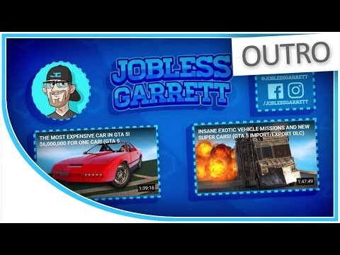 [OUTRO] JoblessGarrett's YouTube Outro/Endscreen Design - 60fps - YouTube Moving End-screen Illusion
