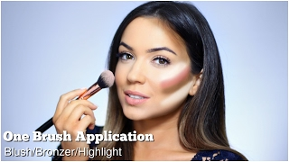 How To Apply Blush Contour & Highlight | One Brush Application | TheMakeupChair