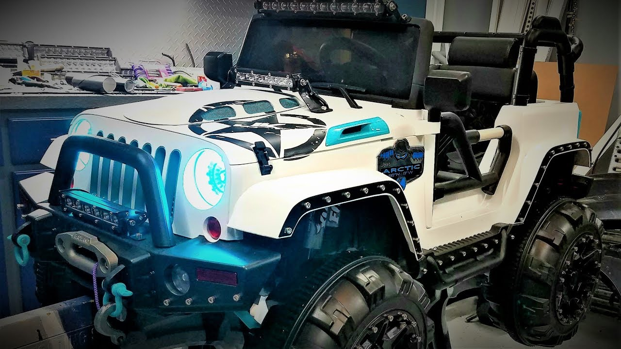 Jeep Custom Wheels >> Custom Power Wheels Ride On Jeep Episode 1 - YouTube