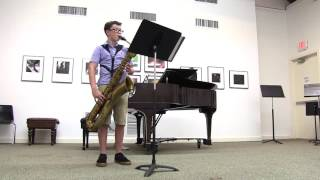 Air in D Minor – Purcell      Luke Long, baritone saxophone Selina Li, piano