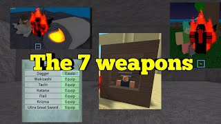 All weapon locations of-One Piece Legendary-Roblox