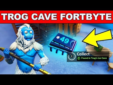 FOUND IN TROG'S ICE CAVE - Fortnite Fortbyte #49 Location
