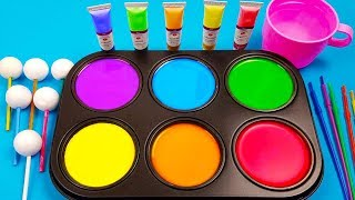How To Make Frozen Paint with Colors Tube videos compilation