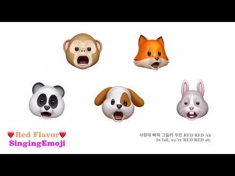 [Animoji Karaoke] Emoji Singing 'Red Flavor (빨간 맛)' -- Red Velvet (레드벨벳)   With Lyrics!