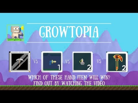 Growtopia Comparison - Which hand item is the best for farming ?