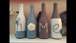 Idei pentru sticle decorative