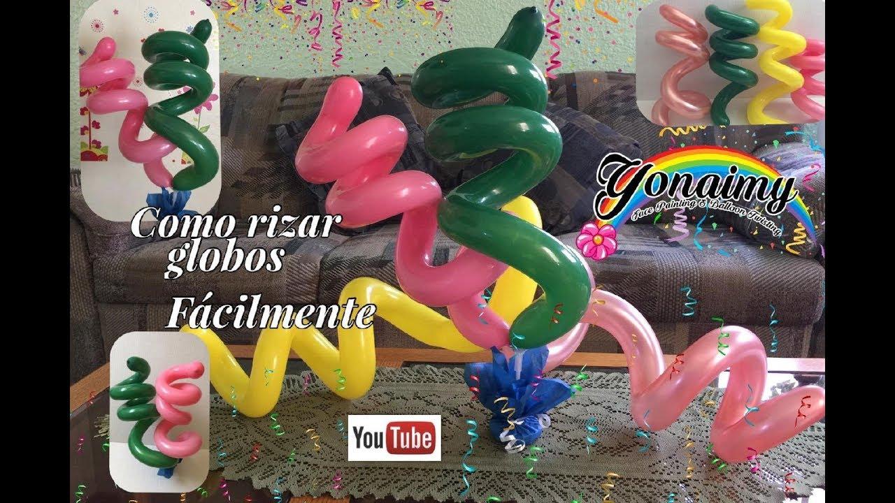 Como rizar nuestros globos 260 facilmente youtube - Bombas para decorar ...