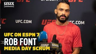 Rob Font (And His Dogs) React To Cody Stamann Trash Talk  - MMA Fighting