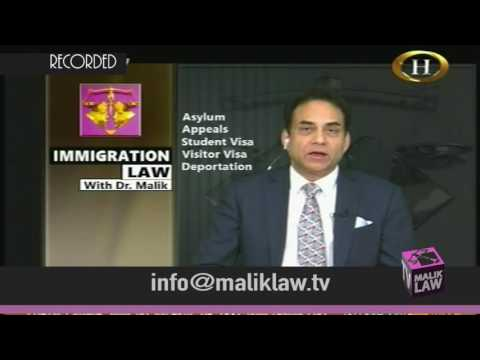 Immigration Law with Dr Malik 13th Jan 2017