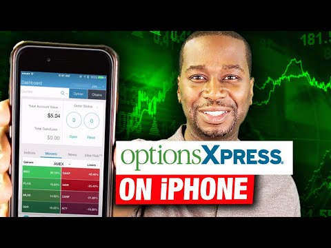 How to trade stocks from your Iphone using the OptionsXpress mobile trading app