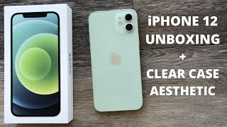 iPhone 12 Green Unboxing + Clear Case Aesthetic