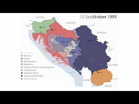 Timeline of the Breakup of Yugoslavia