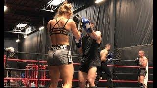 Muay Thai Sparring Highlights - Summer 2017 - Tess Kielhamer - at OC Muay Thai