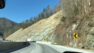 Driving to Nashville Through the Mountains January 6, 2018