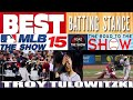 MLB THE SHOW 15 ¤ BEST BATTING STANCE AND HITTING TUTORIAL ¤ HITTING GLITCH ¤ ROAD TO THE SHOW