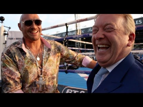 'ANTHONY JOSHUA IS A BUM! - THE MAC IS BACK!' - TYSON FURY SLOW DANCES WITH FRANK WARREN IN LEEDS!!