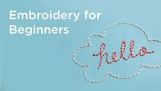 Embroidery for Beginners | 7 Basic Stitches