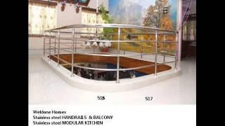 Balcony Hand Rails & Premium Quality Modular Kitchen - Thrissur Kerala Call 9400490326