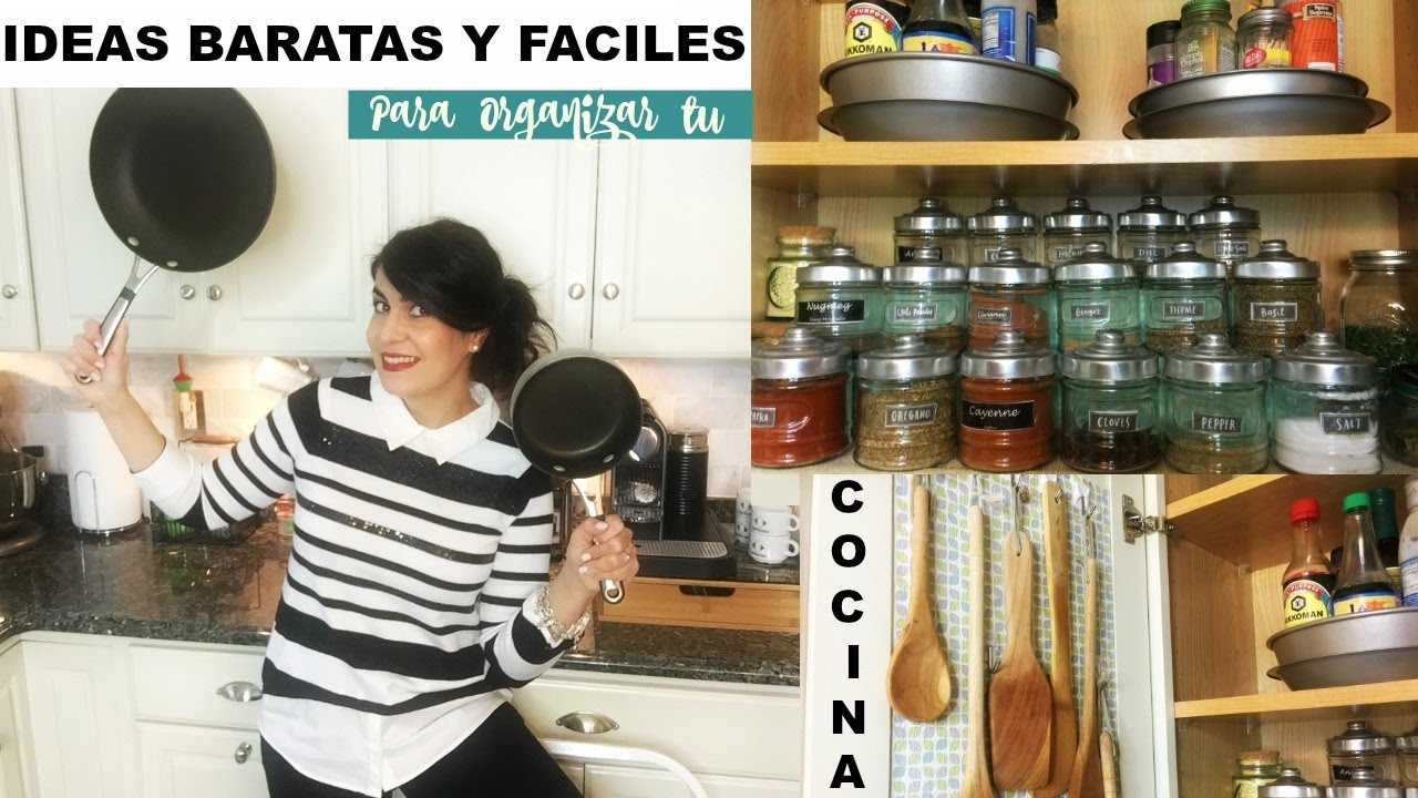 IDEAS PARA ORGANIZAR UNA COCINA PEQUEÑA | DIY KITCHEN IDEAS - YouTube