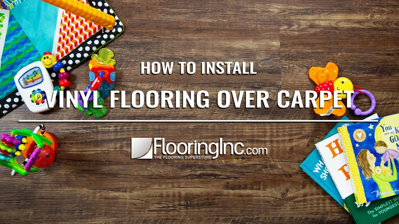 How Install Vinyl Flooring Over Carpet Youtube