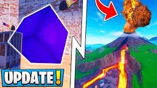 *NEW* Fortnite 8.20 Update! | Secret Tier 100 Reward, All Map Changes, Volcano Event!