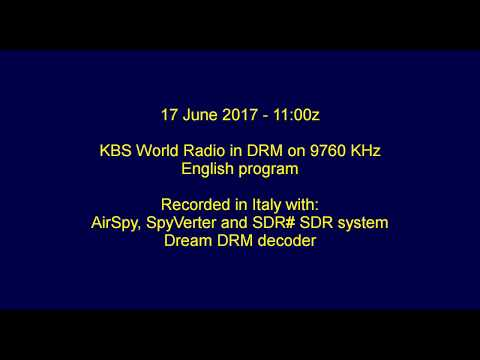 KBS World Radio DRM on 9760 KHz, 17 June 2017