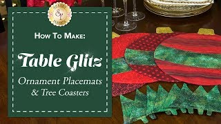 How to Make Ornament Placemats & Christmas Tree Coasters   a Shabby Fabrics Sewing Tutorial