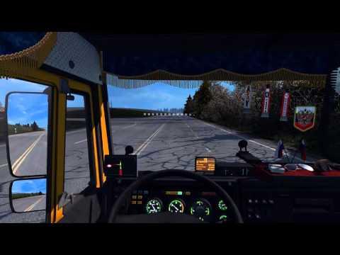 КАМАЗ 5460 3-я серия (отрывок рейса Орёл-Курск) RusMap ETS2