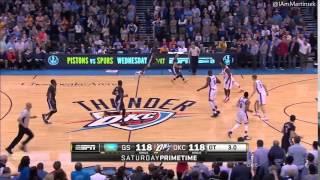 Stephen Curry Half Court Shot for Win in Overtime vs Thunder