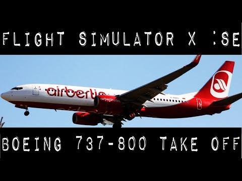 Flight Simulator X ( FSX:SE ) ! Hamburg - Stuttgart ! Night Take Off ! B737-800 at Hamburg !
