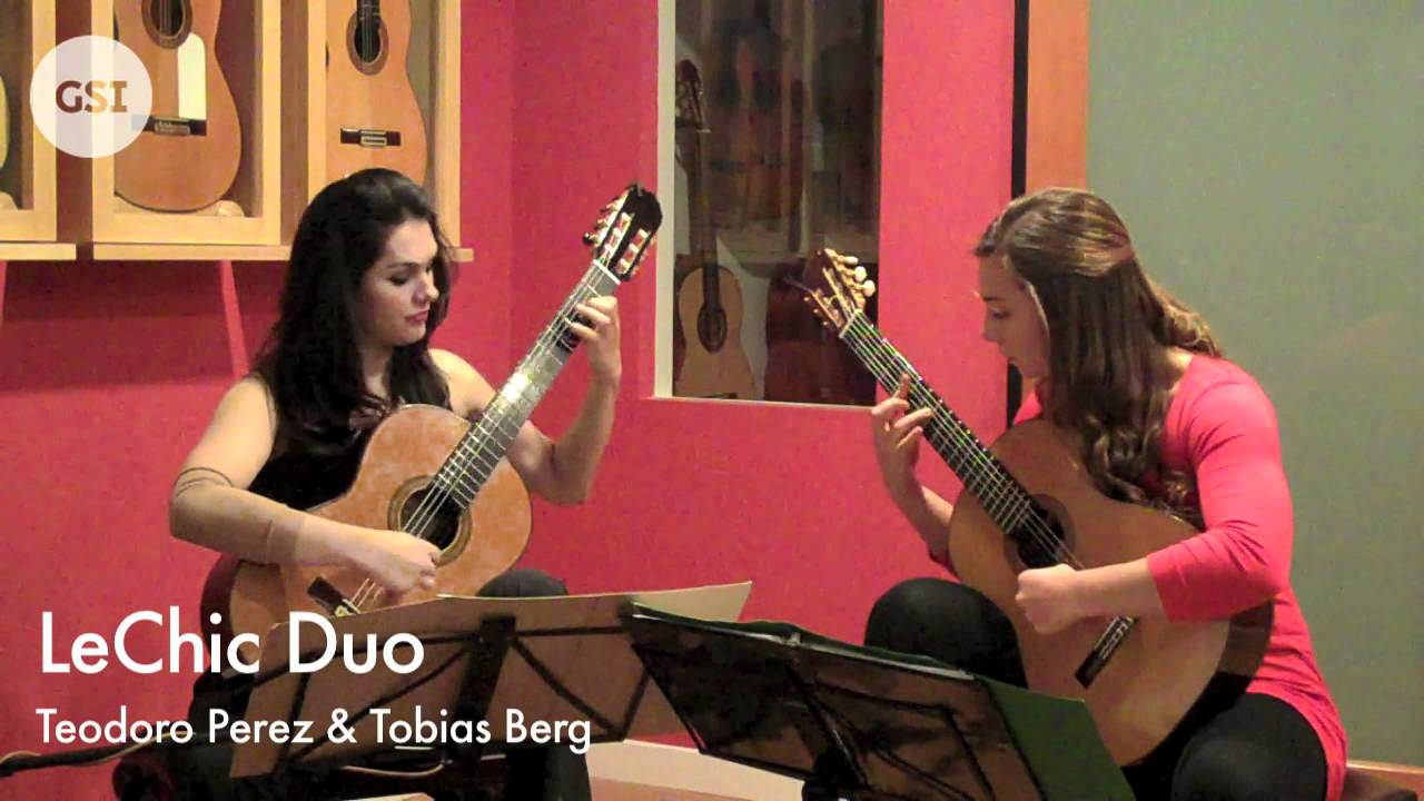 Albeniz 'Cordoba' for 2 guitars played Duo LeChic