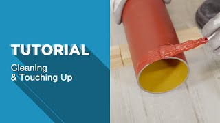 How to clean and prepare an Ensign cast iron pipe ready for installation