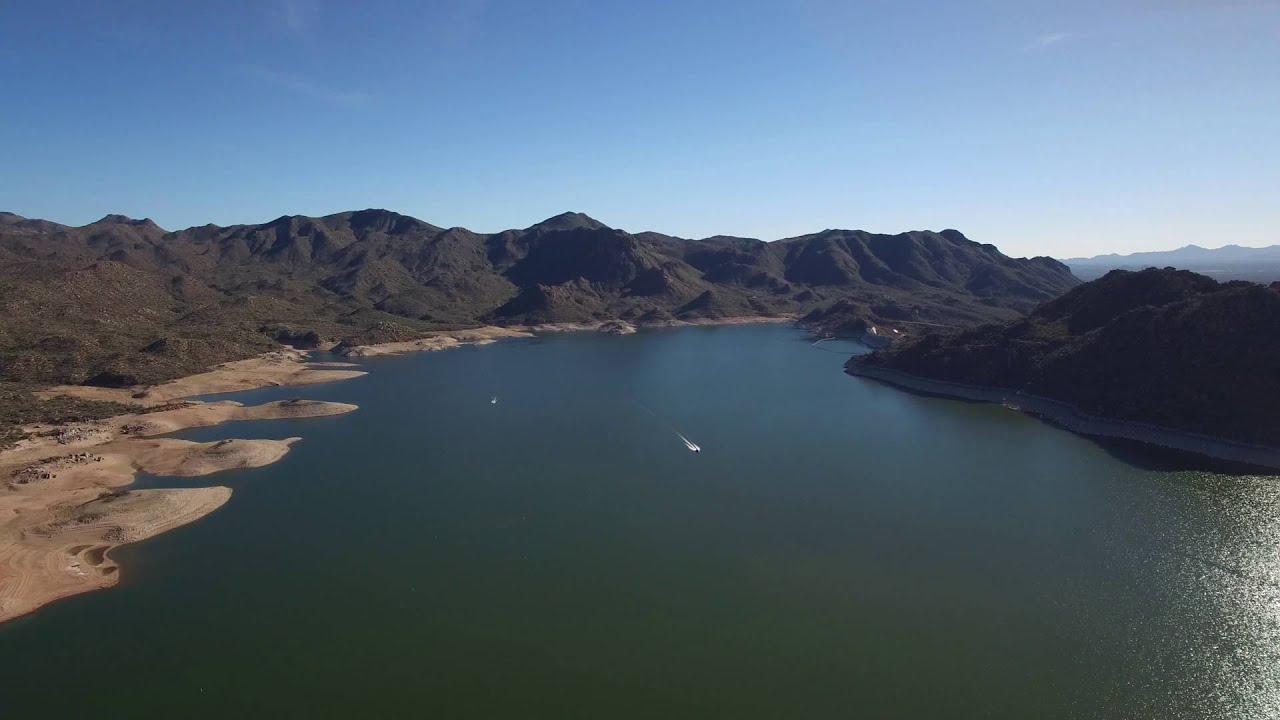 Bartlett Lake Drone Flight 4K - Arizona